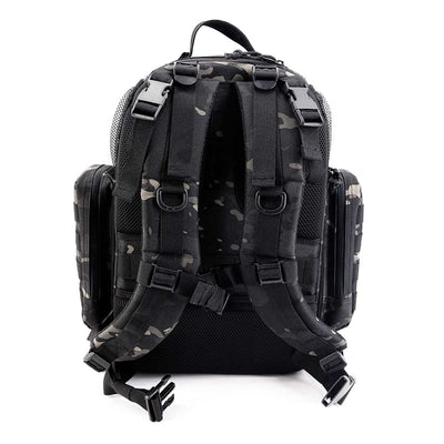 Diaper Bag Backpack - Black Camo - Back