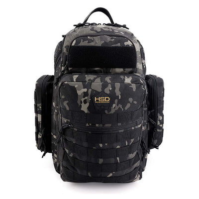 Diaper Bag Backpack - Black Camo Front