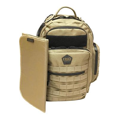 Diaper Bag Backpack - Coyote Brown - Changing Mat