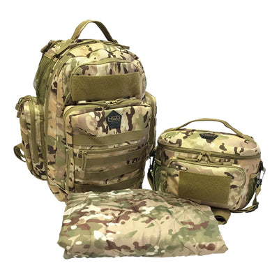 Diaper Bag Backpack - Multicam - Diaper Bag and Lunch Bag and Changing Pad