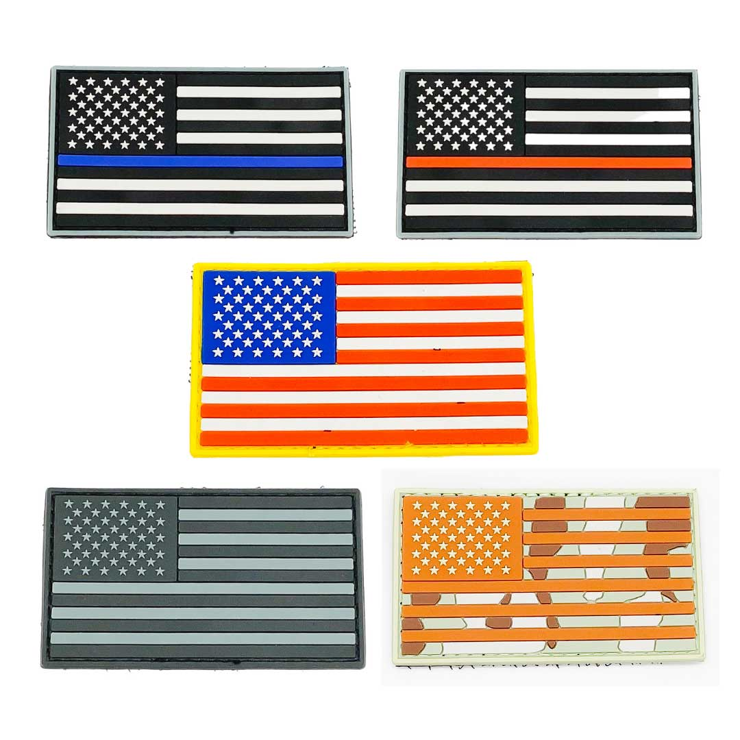American Flag Patch Bundle