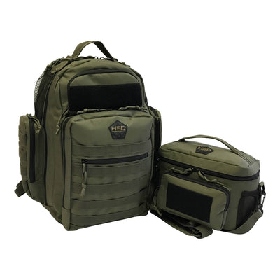 Diaper Bag Backpack - Ranger Green - Dynamic Duo Diaper Bag and Lunch Bag
