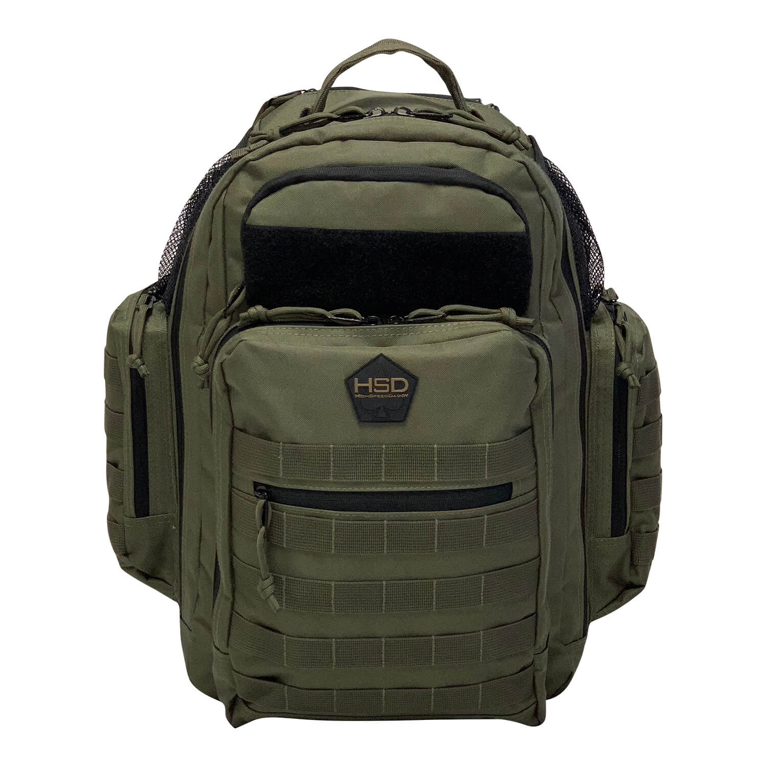 Tactical Diaper Bag Backpack - Black - Front