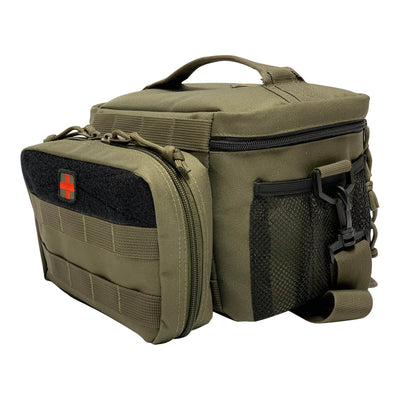 First Aid Kit Pouches - Ranger Green - Kit Attached to Lunch Bag