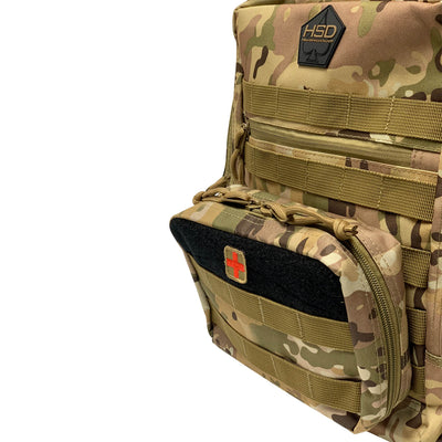 First Aid Kit Pouches - Multicam - Kit Attached to Bag