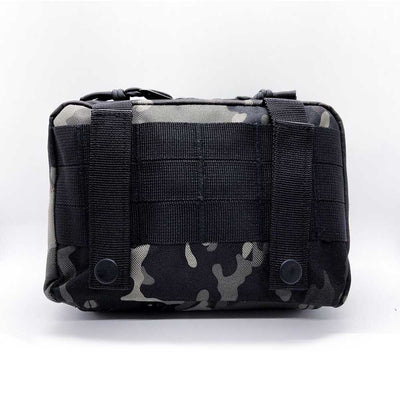 black camo first aid kit pouch - back
