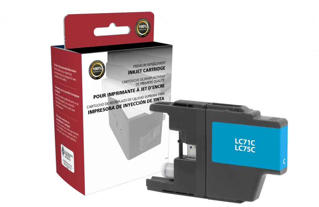 High Yield Cyan Ink Cartridge for Brother LC71/LC75