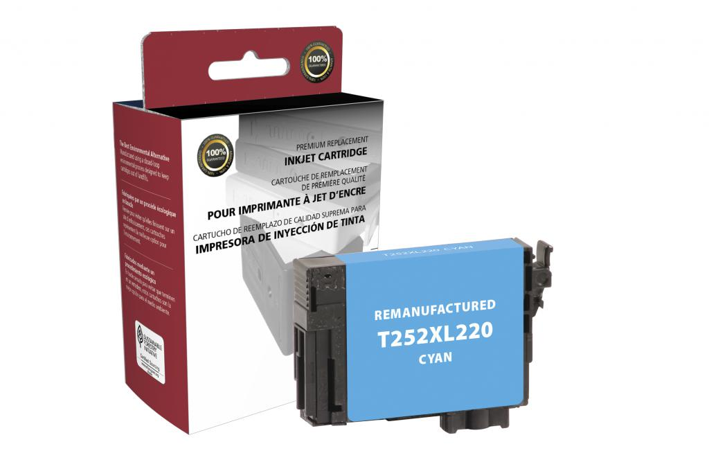 Epson Remanufactured T252XL220 Cyan High Yield Ink Cartridge