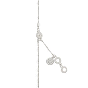 Couture Morning Dew Long Necklace with Pearls in Silver
