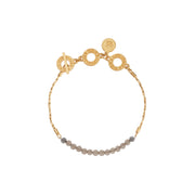 Couture Morning Dew Grey Agate Bracelet in Gold