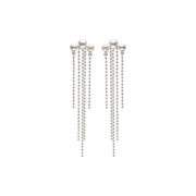 Dance Kobbeå Long Earrings with Pearl