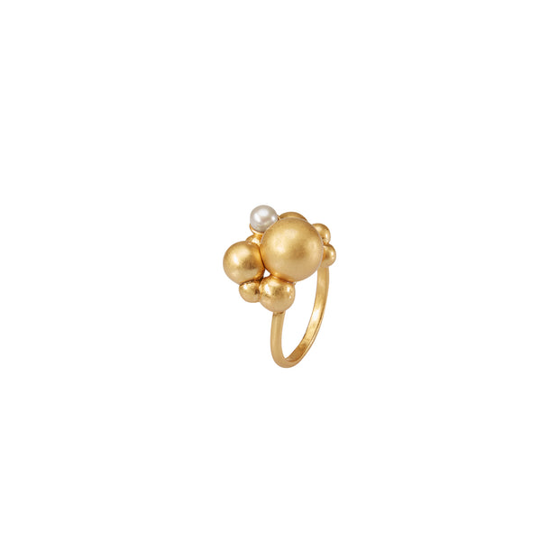 Dance Winter Dew Statement Ring in Gold