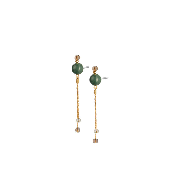 Fairytale Winter Spruce Earrings with Green Onyx