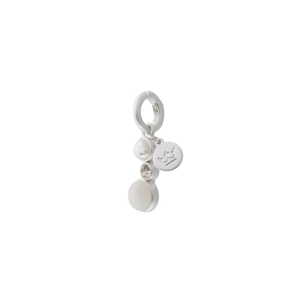 Fairytale Snow Fairy Charm with White Jade and Pearl