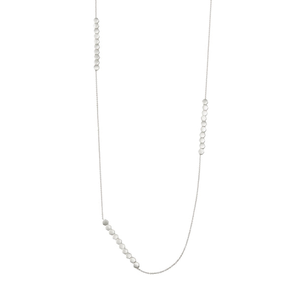 Shadow Long Necklace in Silver
