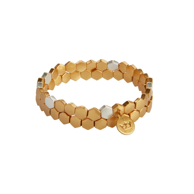 Shadow Stacked Bracelet in Gold