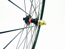 Load image into Gallery viewer, 29er DCB Carbon MTB Wheels Standard  XC/Trail with Novatec hubs - TA Shimano - Taped and Valved.