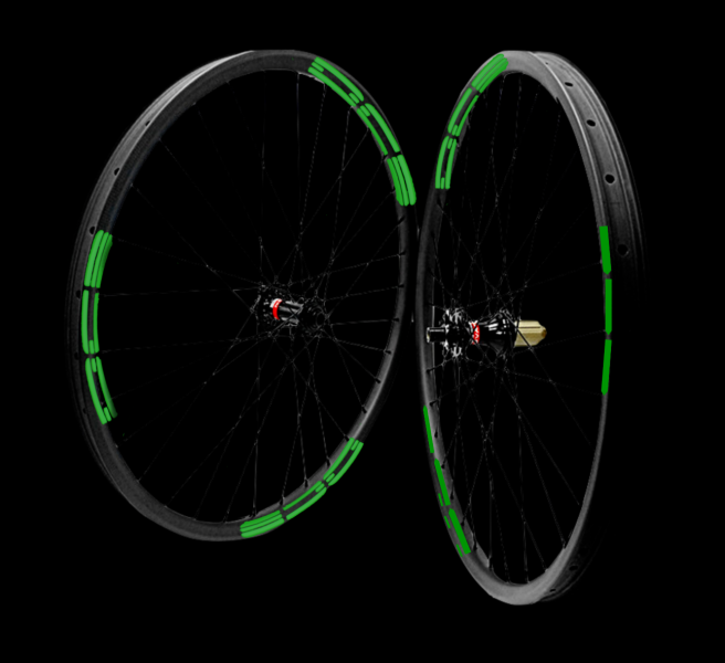 29er DCB Carbon MTB Wheels Standard  XC/Trail with Novatec hubs - TA Shimano - Taped and Valved.