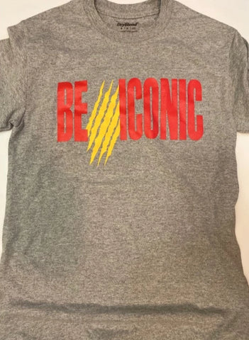 (Pre- Order) BE ICONIC T- Shirt (Gray)