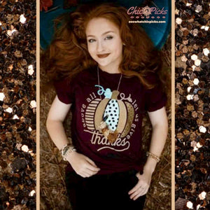 Southern Bliss Company Fall Pumpkin Tee Let us Give Thanks Mint Metallic Foil Tee At Chic Picks