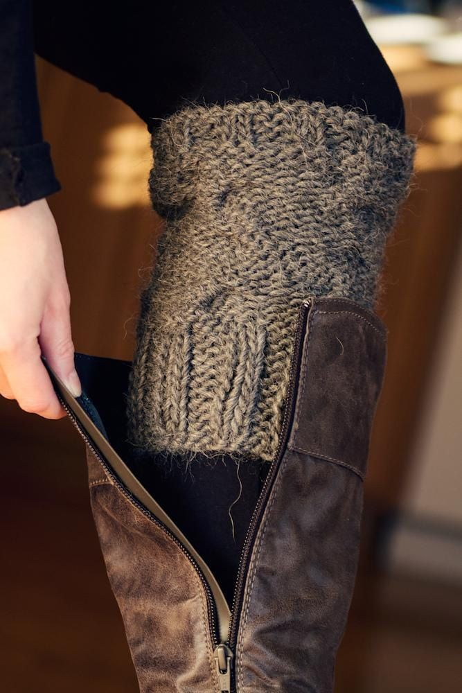 Use your old fall fashion apparel sweaters for fancy new boot topper cuffs