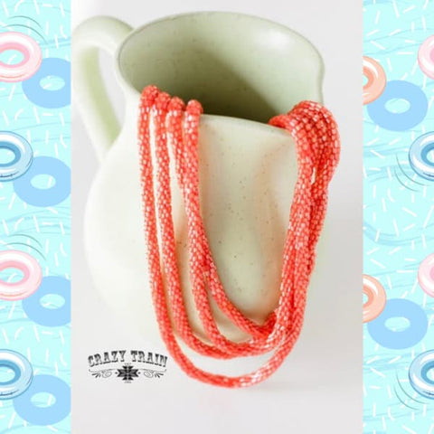 "Crazy Trains Coral ""Loopty Loo""Necklace at Chic Picks"