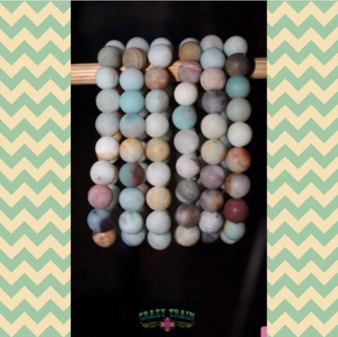 """Natural Seabreeze""-Beaded Stretch Bracelet-Chic Picks"
