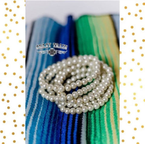 Crazy Train Clothing Perfect Pearl Beaded Stretch Bracelet Mix and match Buy 2 Get 1 Free  womens fashion jewelry bracelets at Chic Picks