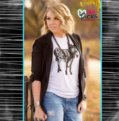 "Texas True Threads-""Bad Donkey""-Donkey Short Sleeve Bella Canvas Graphic Tee T-shirt Top-Chic Pick"