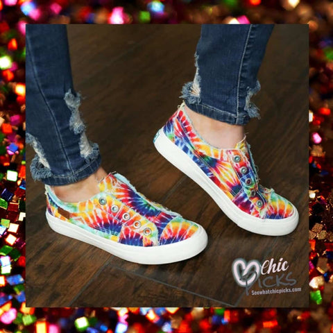 Blowfish Malibu Tie Dye Play Slip on sneakers Women's fashion shoes at chic picks boutique