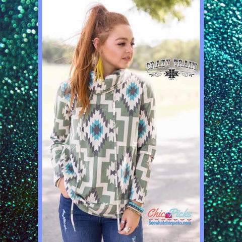 Crazy Train Hang Ten Honcho Aztec Pullover At chic Picks