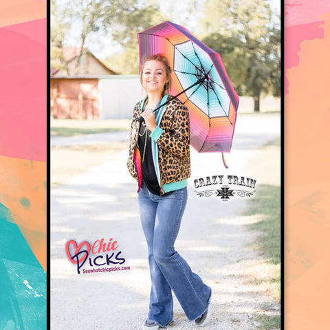 Crazy Train Rain On My Parade Serape Pattern Umbrella At Chic Picks