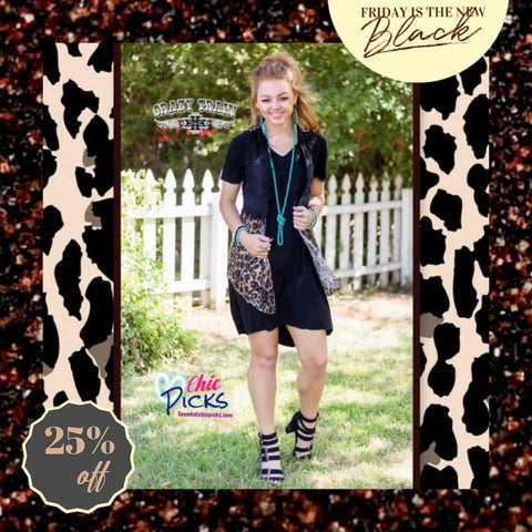 Crazy Train Wild Wild Vest Leopard and Black Lace Vest At Chic Picks Friday is the New Black proml