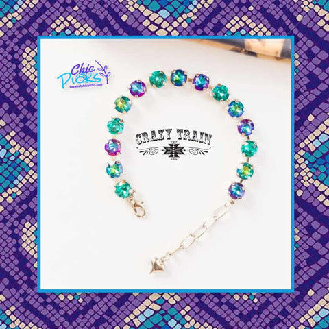 Crazy Train Clothing Turquoise Sassy Flash Bracelet Women's Fashion jewelry and accessories at chic picks Boutique