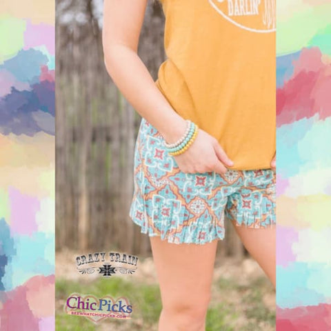Crazy Train Vaquero Vibe Fringe Shorts On Sale At Chic Picks