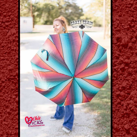 Crazy Train Classic Serape Pattern Umbrella At Chic Picks