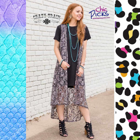 Crazy Train Hot Swap Reversible Animal Print Lace Duster Leopard And Snakeskin At Chic Picks