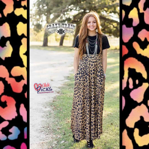 Crazy Train Dress We Can Leopard / Black Maxi Dress at Chic Picks