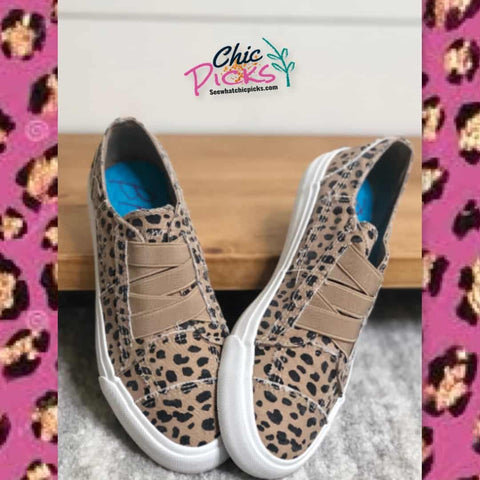 Blowfish Malibu Marley latte spots canvas slip on sneakers women's fashion shoes at chic picks boutique