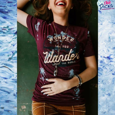 "Southern Bliss Company ""Wonderland Wanderlust"" Short Sleeve Graphic Tee at Chic Picks"