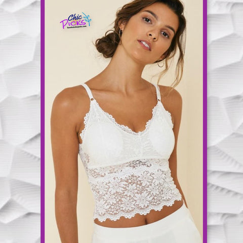Hayden Las Angeles Tiered Lace Bodice Bralette women's fashion Bralettes at Chic Picks Boutique