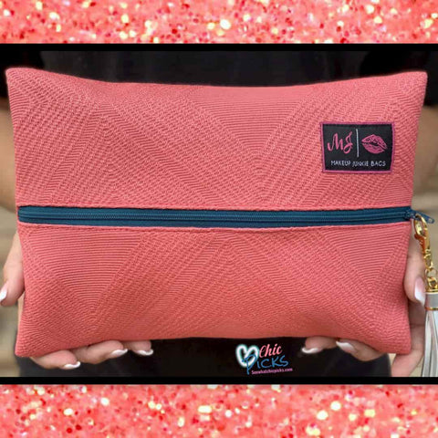 Makeup Junkie Cosmetic Bag Coral Sugar Makeup Junkie Bags At Chic Picks