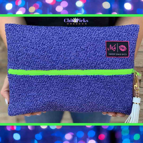 Makeup Junkie Bags Shaggy Lilac Large Cosmetic Makeup Bag At Chic Picks