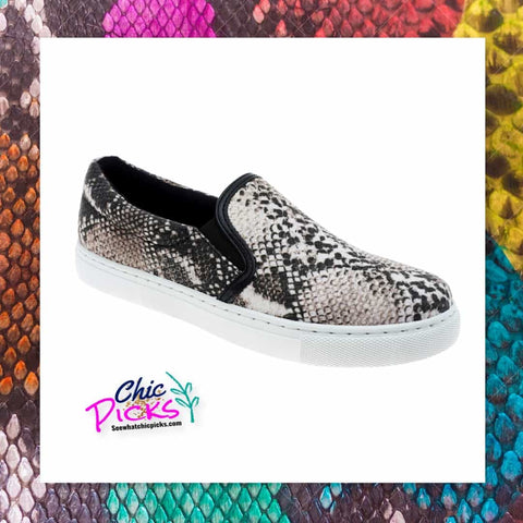 Pierre Dumas Slip on Sneaker in a Snake women's casual fashion footwear shoes at chic picks boutique