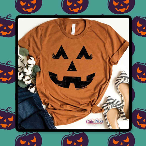 Lemon Lorraines The Great Pumpkin Bella Canvas Short Sleeve Unisex Graphic Tee at Chic Picks