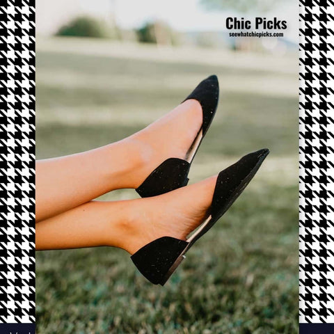 Rollasole Black Dorsey Foldable flats women's fashion shoes at chic picks boutique