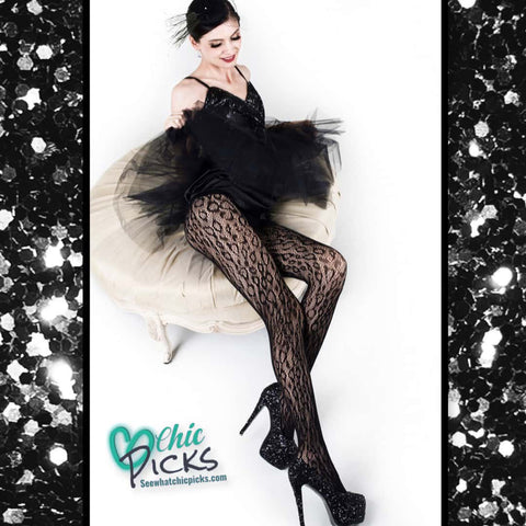 Yelete Leopard Print Fishnet Stockings Tights Women's Fashion Accessories At Chic Picks Boutique