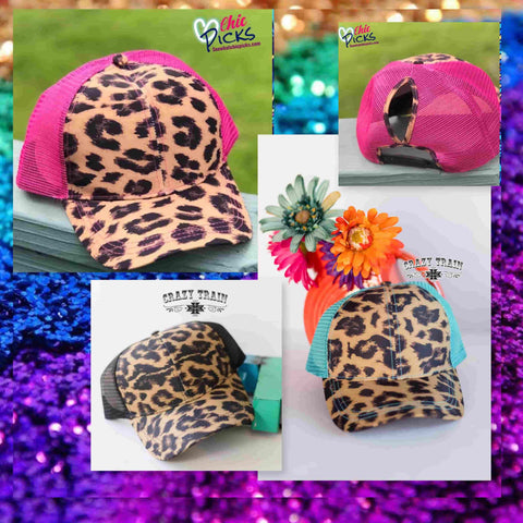 "Crazy Train multiple Mesh ""Up in the Hair"" Adjustable High Pony Hat-Chic Picks"