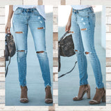 """Damsel in Distressed Jeans"" KanCan Distressed Skinny Jeans"