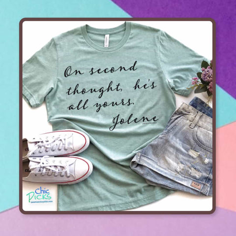 "lemon Larraigns-""On Second Thought""-Bella canvas short sleeve Graphic Tee-Chic Picks"